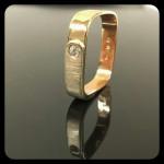 Arany gyűrű. Rozé-fehérarany. Cirkónia kővel. Szélesség:4mm Méret:53 37.000ft